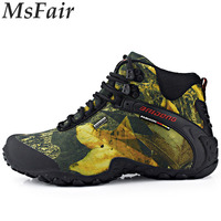 MSFAIR 2017 New Hiking Shoes Mountaineering Camping Shoes Training Boots Hiking Boots Men Sneakers Walking Shoes