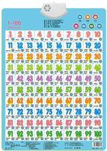 Обучайте цифры 1 100 детская звуковая Настенная карта книга
