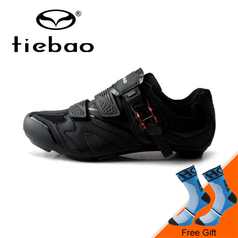 Tiebao Breathable Shockproof Cycling Shoes Road Bike Shoes Ultralight Self-locking Highway Riding Shoes Zapatos bicicleta tiebao black road bike shoes ultralight bicycle road shoes men cycling shoes self locking sport shoes zapatillas ciclismo