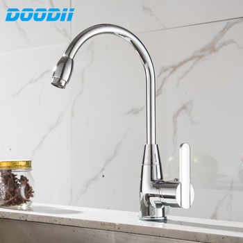 Economic Zinc Alloy 360 Degree Rotatable Faucet Top Hot Cold Mixer Tap Rotating Faucets Home Kitchen Wash Basin Faucet DODI-D093