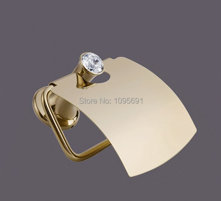 ФОТО Gold Polished Toilet Paper Holders  Paper Roll Rack golden toilet paper holder paper towel holder-MD-9322