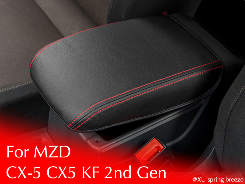 For Mazda CX-5 CX5 2017 2018 KF 2nd Gen Armrest Console Pad Cover Cushion Support Box Armrest Top Mat Liner Car Stickers new car armrest console pad cover cushion support box armrest top mat liner for vw benz audi bmw mazda hyundai nissan chevrolet