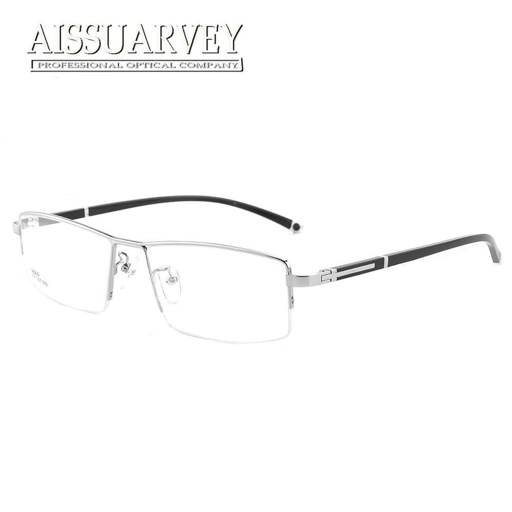 Design clássico óculos de Aro Semi Masculino Eyeweay Computador Óculos de  Leitura Prescrição Homens Armações de Óculos De Liga de Titânio com Lente  Clara 5c8bca781e