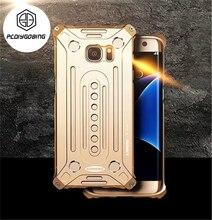 Роскошные противоударный чехол телефона авиационного алюминия металлический Открытый armor полная защита Case для Samsung Galaxy S7 S7 край