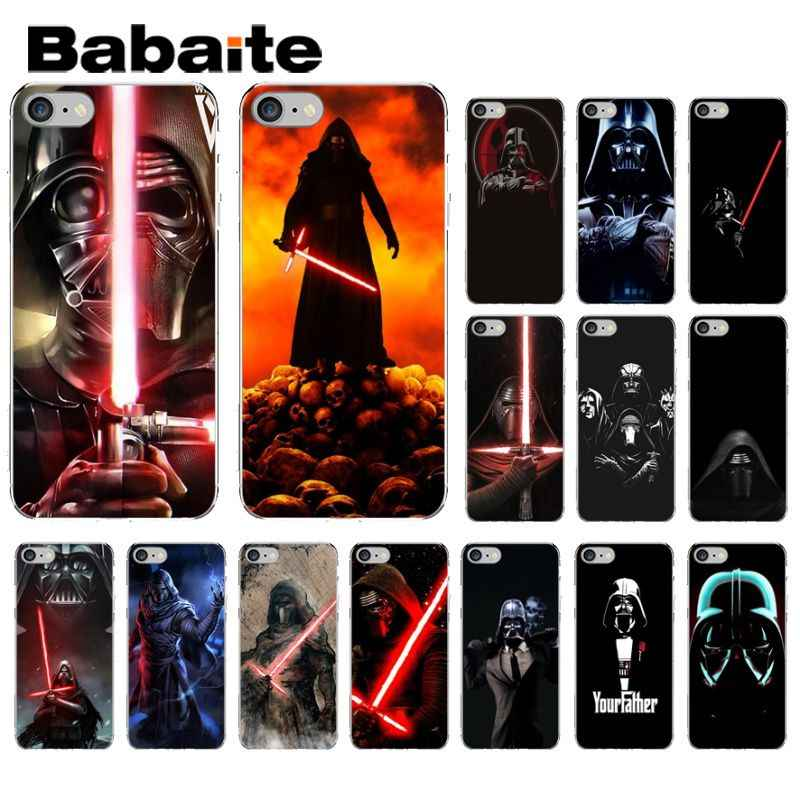 Darth Vader de Star Wars The Force Desperta Babaite DIY High-end Caso Protetor para o iphone X XS MAX 6 7 7 6 s plus 8 8 Plus 5 5S SE XR