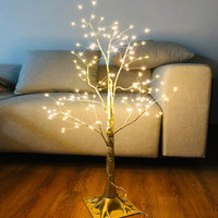1 Pcs Simulation Tree LED Lights Decoration Christmas Party Home Festival Indoor Outdoor WWO66