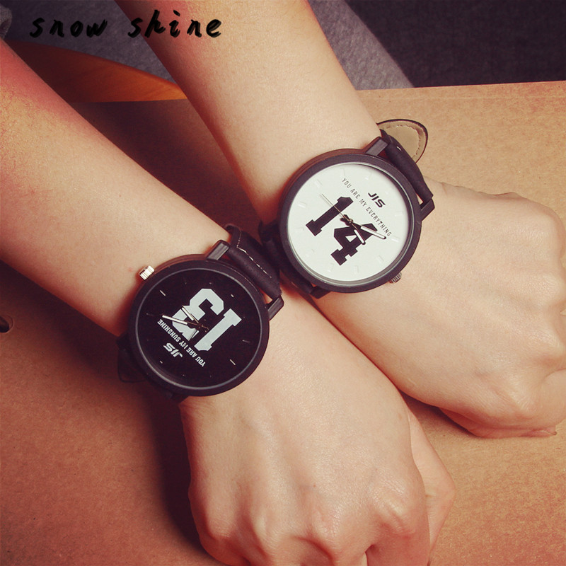 snowshine 30 Fashion Lovers Men Women Leather Band Quartz Analog Wrist font b Watch b font