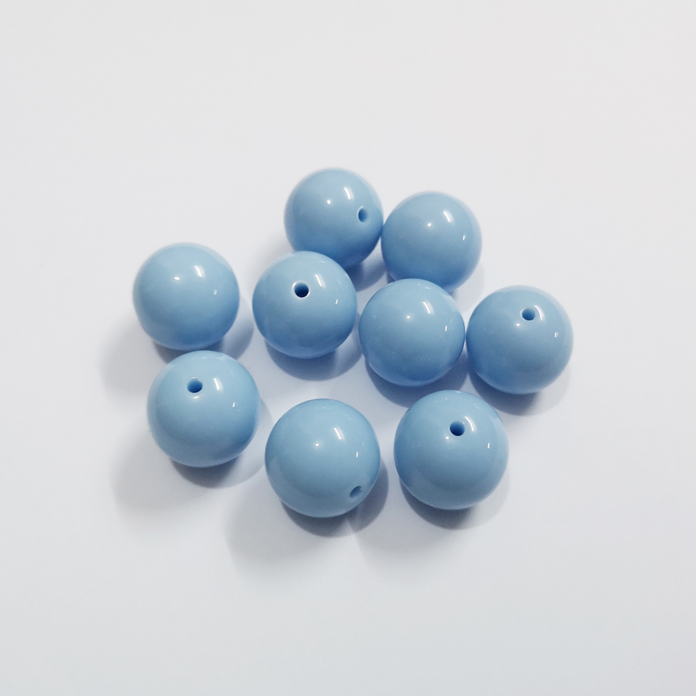 Beads & Jewelry Making Useful S71 20mm 100pcs New Winter Color Pale Dark Blue Kids Play Fun Bubblegum Acrylic Solid Beads For Jewelry Cdwb-701177