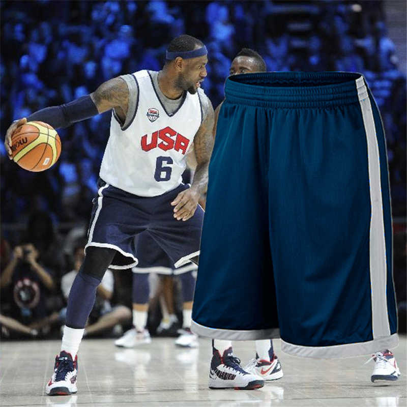 Male Basketball Sports Shorts Training Warm-up Shooting Quick-drying Fitness Running Shorts Plus Size Basketball Shorts
