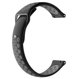 Image 4 - 20MM Neue Ersatz Riemen Zwei farbe Silikon Atmungsaktive Uhr Band Armband Für Garmin Forerunner 245 245M Smart uhr