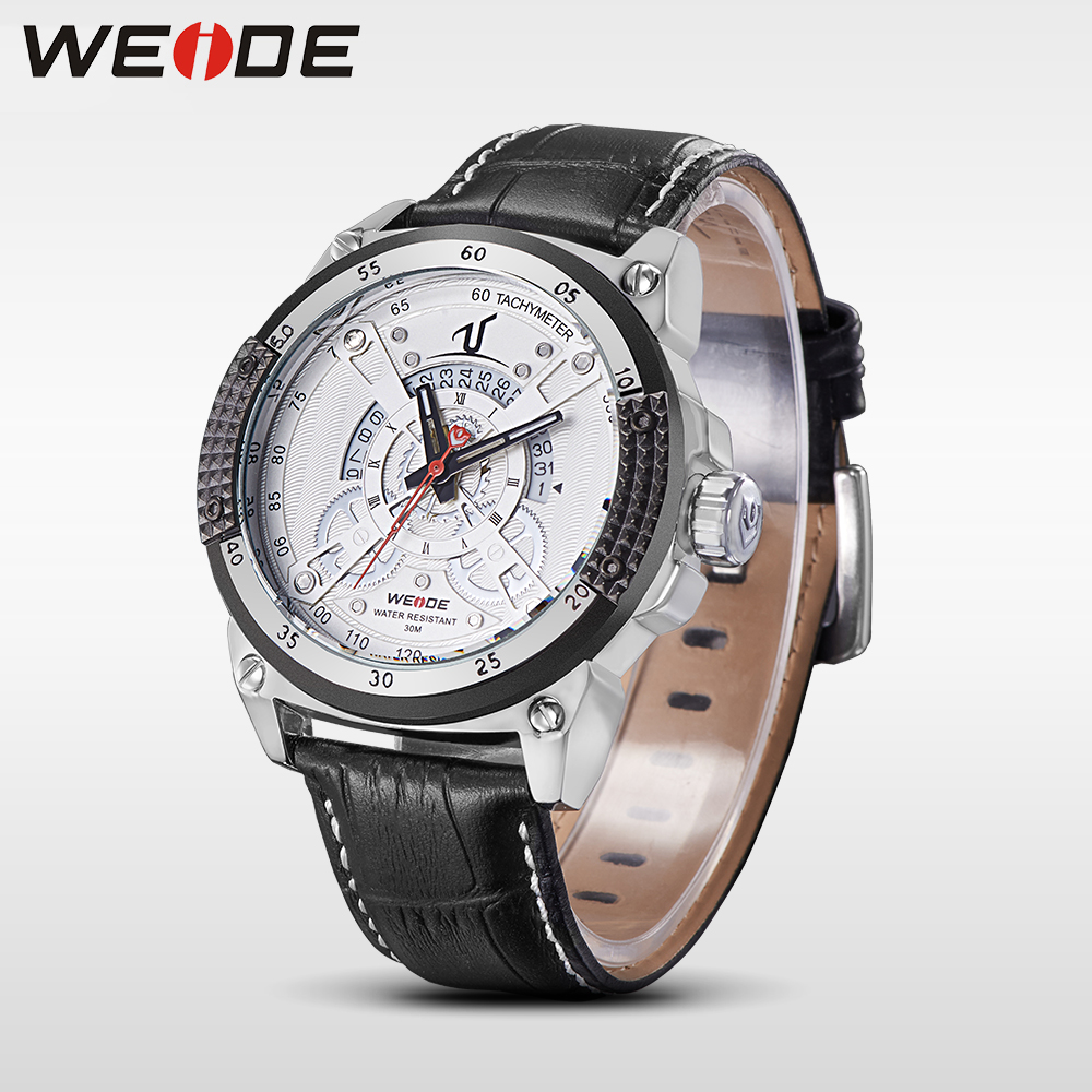 WEIDE brand leather sport quartz watches men water resistant mehanical hand wind analog automatic self-wind luxury clock saat weide brand irregular man sport watches water resistance quartz analog digital display stainless steel running watches for men