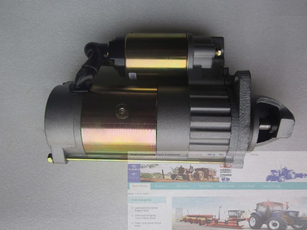 Yangdong Y380T,Y385T, Y480T, Y485T, Y485EPA, the QDJ138C starter motor (gear reduction,11teeth, 12V) replace QD100C3/QD138Y yangdong y380t y385t engine parts the alternator 2jf200 12v for tractor like jinma jm254 part number y385t 1 12100