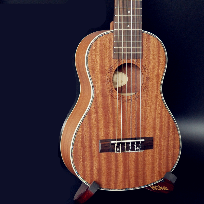 28 Inch Ukulele Mini Guitar 6 Strings Ukelele Hawaiian Sapele Guitar Electric Ukulele with Pickup EQ Stringed music instrument zebra professional 24 inch sapele black concert ukulele with rosewood fingerboard for beginner 4 stringed ukulele instrument