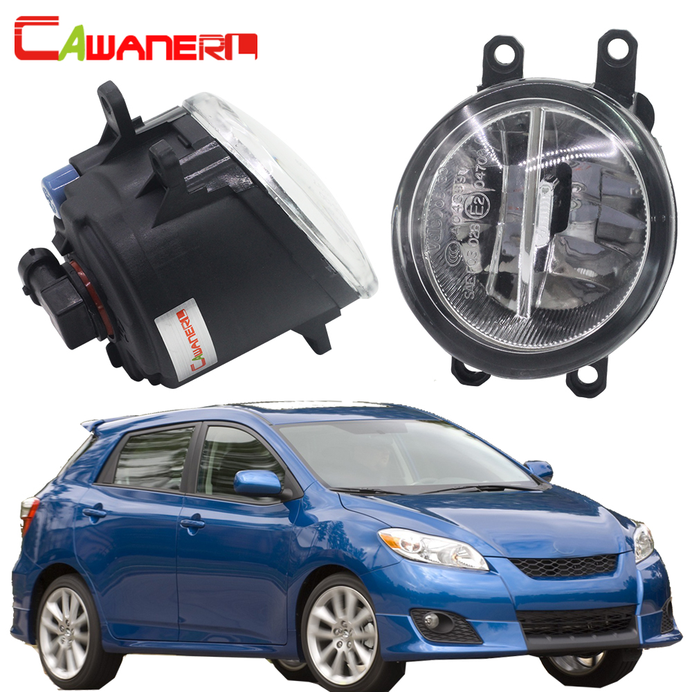 Cawanerl For Toyota Matrix 2008-2013 H11 Car 4000LM LED Fog Light 6000K White DRL Daytime Running Lamp 12V Styling 2 Pieces cawanerl for toyota highlander 2008 2012 car styling left right fog light led drl daytime running lamp white 12v 2 pieces