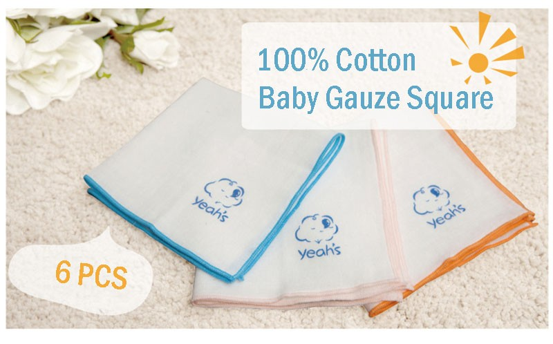 Square Cotton Cartoon Baby Bath (1)
