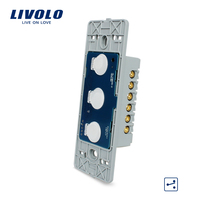 Manufacturer EU Standard Livolo AC 110 250V The Base Of Wall Light Touch Screen Switch 3Gang