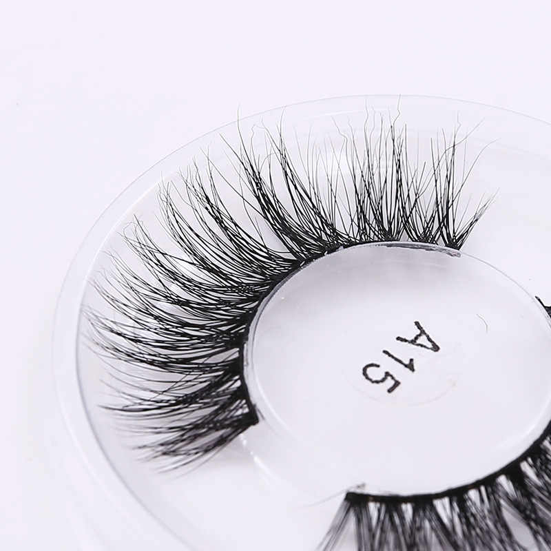 c4fc07f6829 ... A15 3D Mink Lashes Natural Soft False Eyelashes Thick Fake Eye Lashes  Cosmetic Long Eye Lashes ...