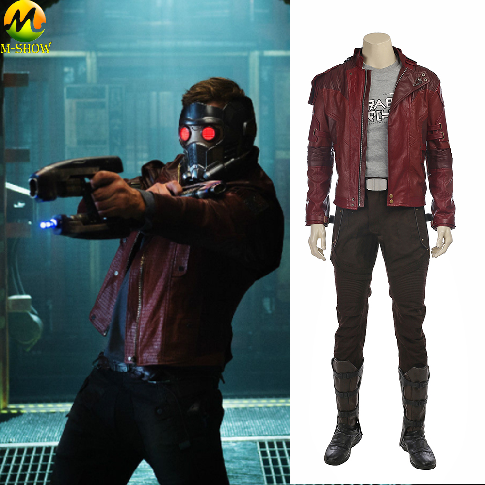 Guardians of The Galaxy 2 Star Lord Cosplay Costume Peter Quill Men Cosplay Full Set Star Lord Jacket Leather Custom Made