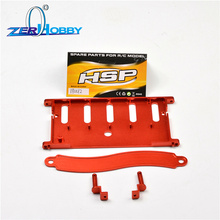 RC HSP Upgrade Parts 180012 Battery Holder W/Covers(Al.) For 1/10 Nitro Power Remote Control Car Crawler Truck  94180 upgrade parts package for hsp rc 1 10 94111 94108 crawler car monster truck blue parts