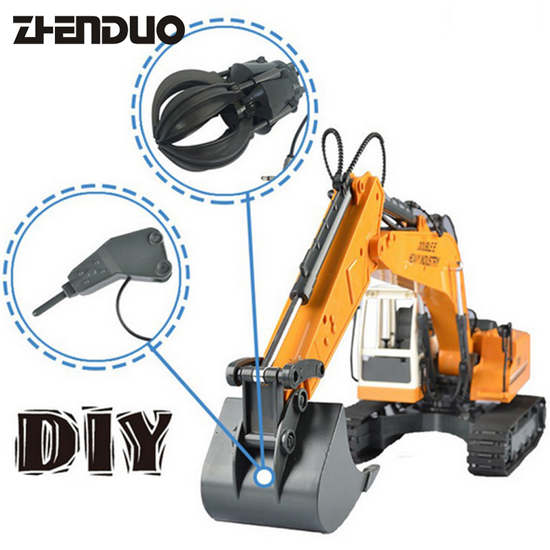 ZhenDuo Toys E561-001 3in1 RC Remote Control Car Excavator Truck Rechargeable Electric Engineering Vehicle Toy купить в Москве 2019