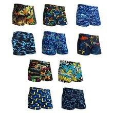 Outdoor Full Printed Men's Swim Shorts Briefs Sportswear Men's Torso Print Draws