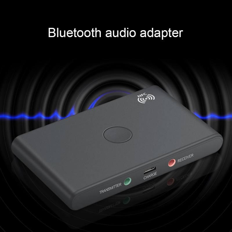 2 en 1 sans fil Bluetooth émetteur récepteur adaptateur USB 3.5mm stéréo jack Bluetooth 4.2 Audio intégré 400 Mah batterie