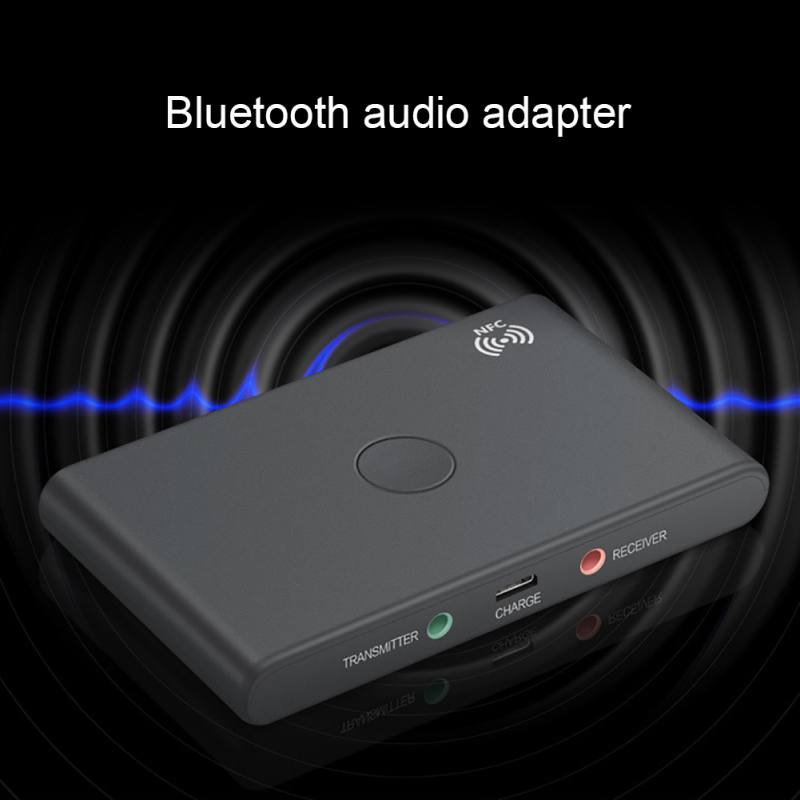 2 in 1 Wireless Bluetooth Transmitter Receiver Adapter USB 3.5mm Stereo jack Bluetooth 4.2 Audio Built in 400Mah Battery