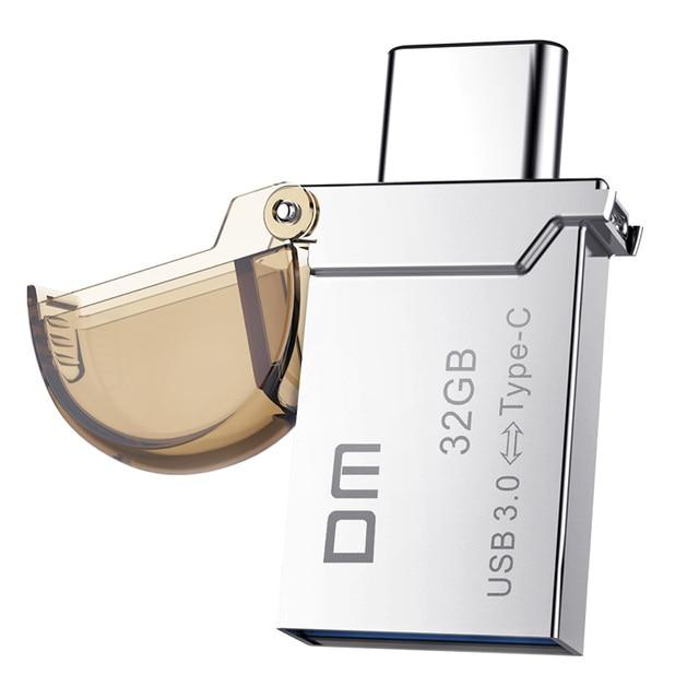 Бесплатная доставка DM PD019 32 ГБ Типа С OTG USB 3.0 Flash Drive Pen Drive Смартфон Памяти MINI Usb Stick