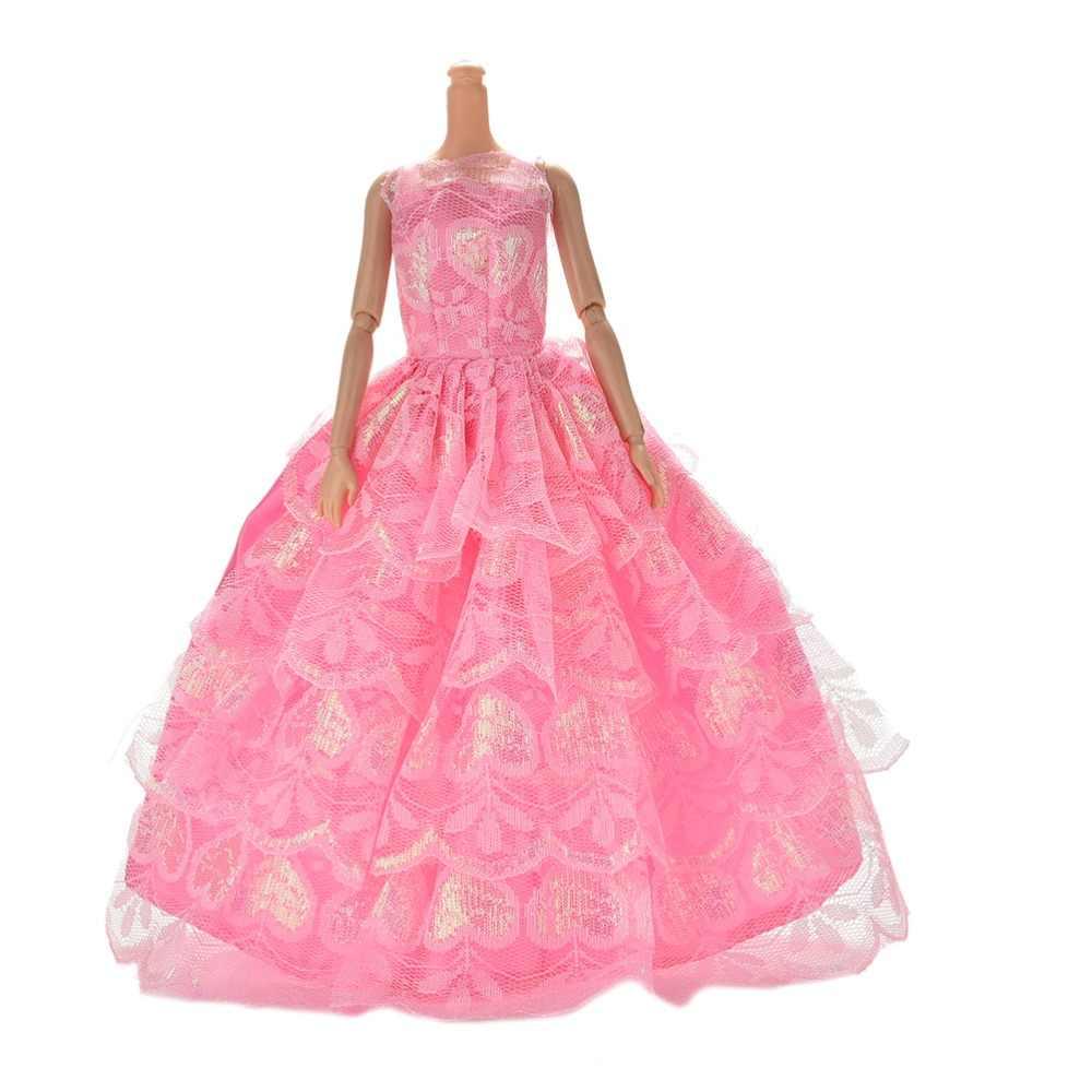 Nuevo 2018 ropa de boda delicado vestido de muñeca de fiesta vestido de princesa para regalo de muñeca juguetes de bebé Color al azar