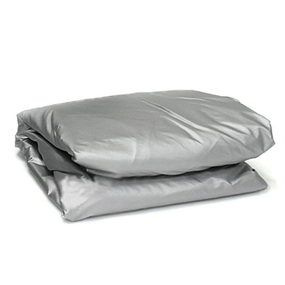Full Car Road Cover Silver Waterproof Rain Snow Heat Dust Resistant Protection Non-woven Polypropylene, image