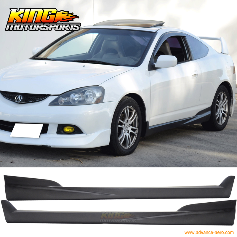 For 2002 2006 Acura RSX DC5 2DR Mugen Style Side Skirts