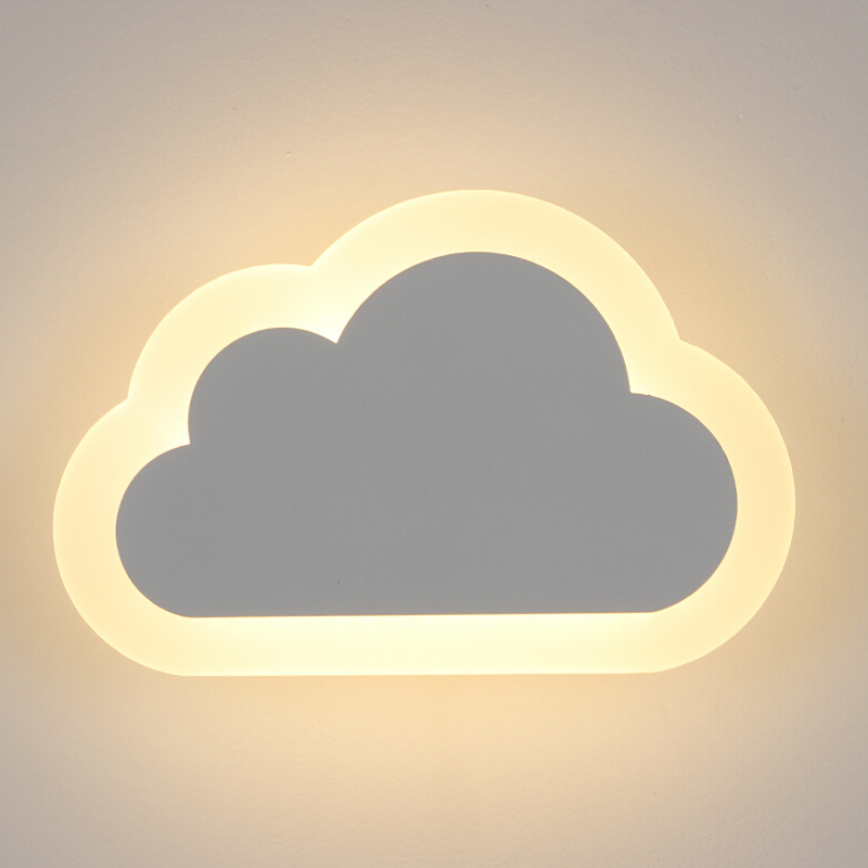8 w moderno conduziu a luz da parede sala de estar criancas quarto decoracao nuvens lampadas