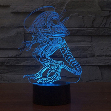 Fashion 3D Touch Alien 7 Colors Change LED Desk Table Night Light Lamp Xmas Gift