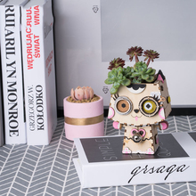 3D Three-Dimensional Puzzle Succulent Potted Flower Pot DIY Kits Assembly Toy Gift for Children Wooden Model