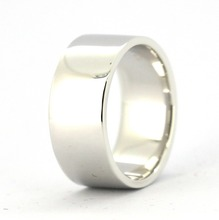 Handgjord 9mm Solid 925 Sterling Silver Plain Band Ring Alla Storlek 4-16