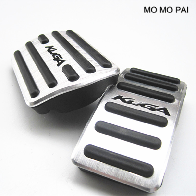 MOMO PAI car styling auto Gas pedal brake pedal Foot Pedals Pads Fit For AT Ford Kuga 2013-2015 2pcs / set