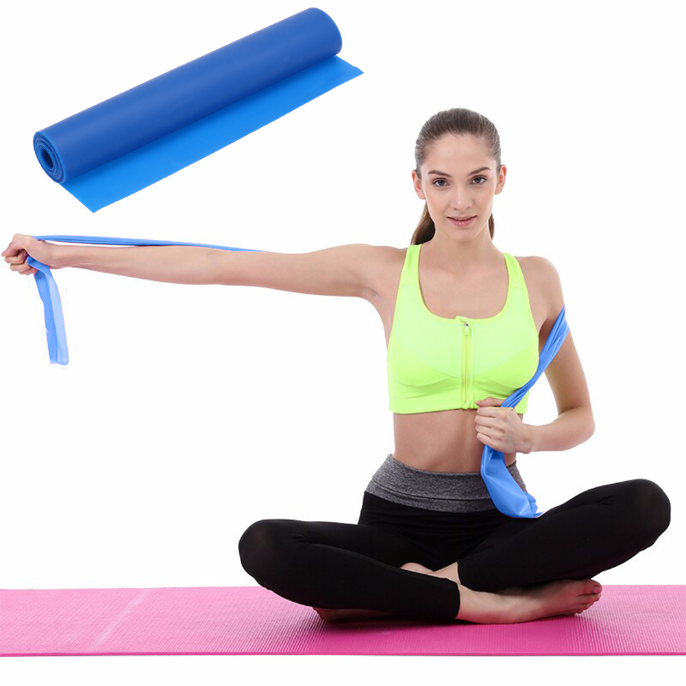 Workout With Bands For Arms: 1.2M Elastic Yoga Pilates Rubber Stretch Exercise Band Arm