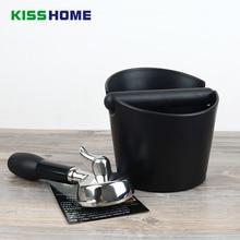 15x15x11cm Black Coffee Tamper Knock Box Deep Bent Design Slag isnt Splash Manual Grinder Accessories