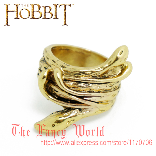 Hobbit Thranduil Snake Ring Mirkwood elf king golden ring Legolas