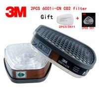 3 M 6001i CN (maska gazowa filtr oryginalna wysokiej jakości 6000/7000 ries z maska gazowa s filtr organiczny pary eter benzyny maska filtr w Chemiczne respiratory od Bezpieczeństwo i ochrona na