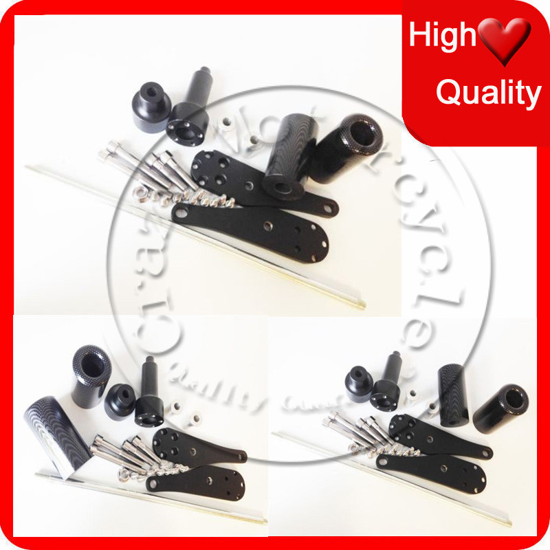 Motorcycle For 2006-2007 Kawasaki ZX10R ZX-10R Carbon No Cut Frame Sliders crash Falling protection
