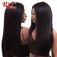 RXY прямые Синтетические волосы на кружеве парик 250% плотность Синтетические волосы на кружеве человеческих волос парики для черный Для женщ
