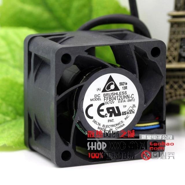 FFB0412UHN-C 4028 0.81A PWM 12 V inteligente de control de velocidad de gran fuerza del viento ventilador violento