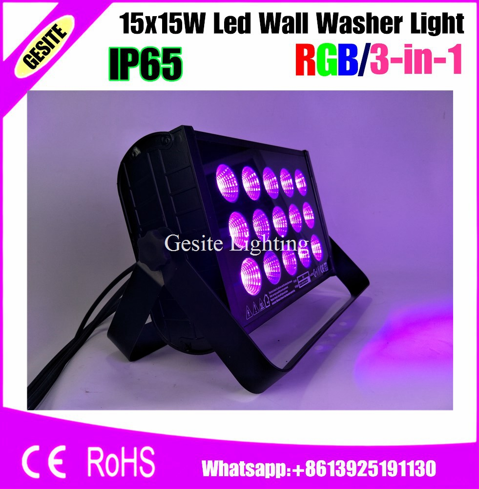High Power RGB 15x15W 3IN1 LED Wall Wash lamp Washer Flood Light Outdoor Landscape Lighting Rectangle Shape|wall wash|led washwash led light - title=