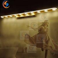 2018 светодиодный настенный светильник минимализм зеркало передний свет Ванная комната бра современные Pinup светильник Лампада коридор крыль
