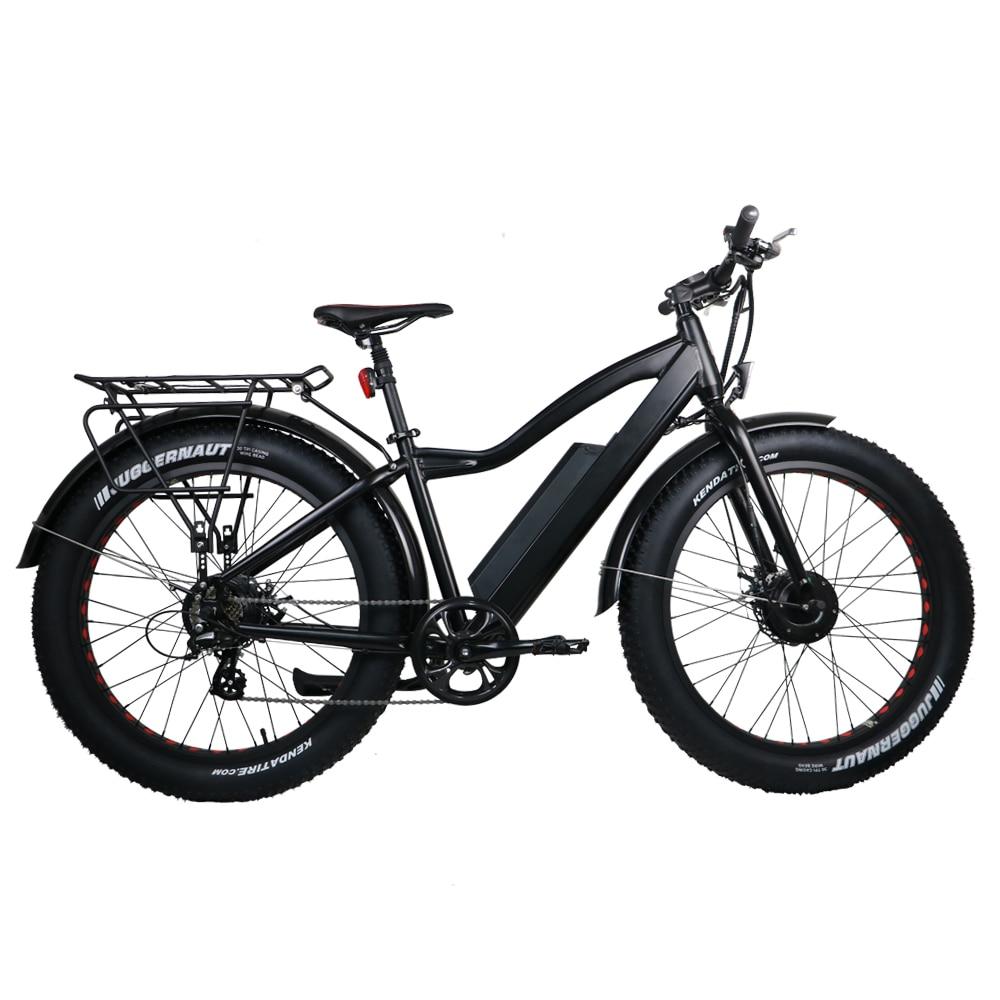 Nueva bicicleta eléctrica de grasa Ebike 2WD 48V 11AH batería de - Ciclismo