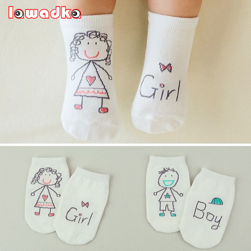 2016 New Spring Baby Socks Newborn Cotton Boys Girls Cute Toddler Asymmetry Anti-slip Socks