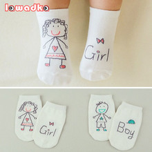 2016 New Spring Baby Socks Newborn Cotton Boys Girls Cute Toddler Asymmetry Anti slip Socks