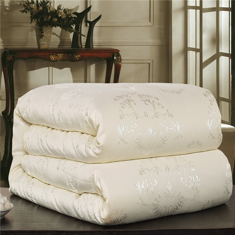 High Quality 100 Real Silk Quilt Cotton Jacquard Duvet Cover pure and natural long strand silk