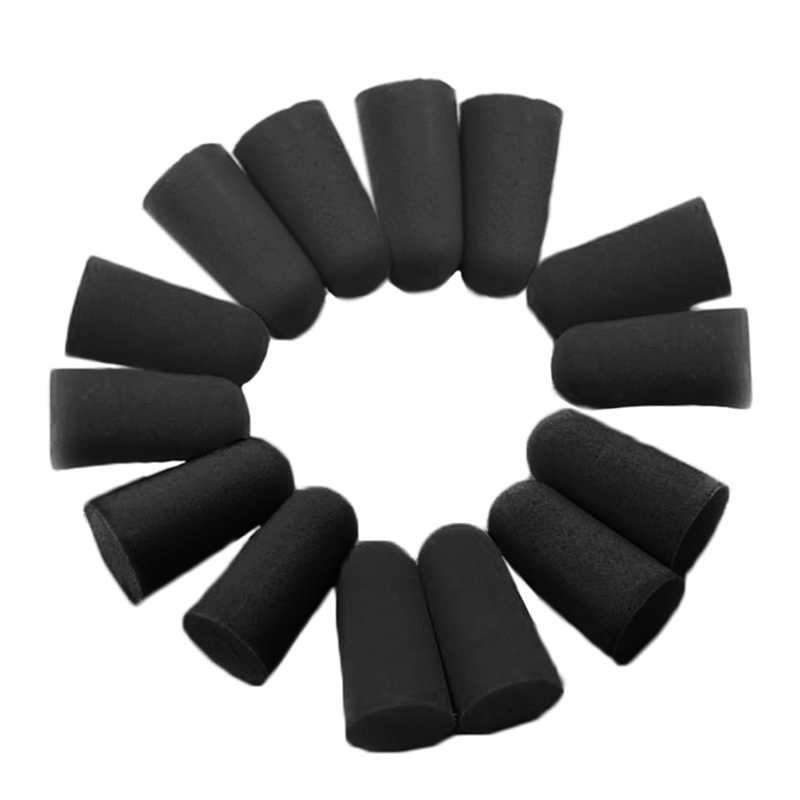 20 個/10 ペアブラック旅行スリープ騒音防止耳栓ノイズリダクション旅行睡眠ソフトテーパー泡耳プラグ